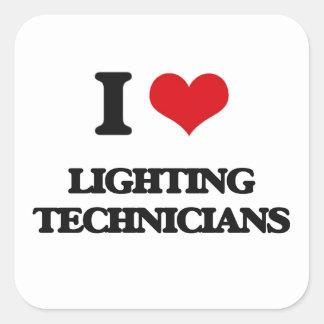 I love Lighting Technicians Square Sticker