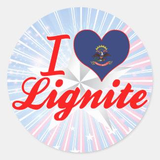 I Love Lignite, North Dakota Sticker