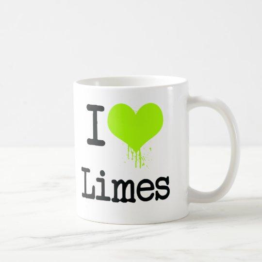 I Love Limes Coffee Mug