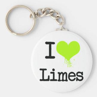 I Love Limes Key Ring
