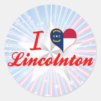 I Love Lincolnton, North Carolina Round Sticker
