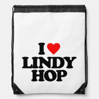 I LOVE LINDY HOP DRAWSTRING BAG