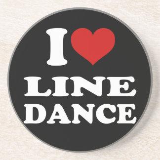 I Love Line Dance Coaster
