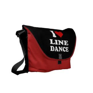 I Love Line Dance Courier Bag