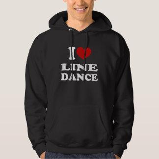 I Love Line Dance Hoodie