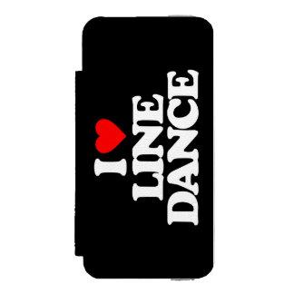 I LOVE LINE DANCE INCIPIO WATSON™ iPhone 5 WALLET CASE