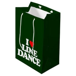 I LOVE LINE DANCE MEDIUM GIFT BAG