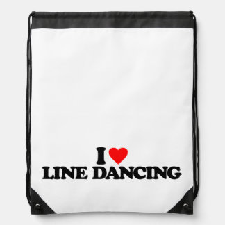 I LOVE LINE DANCING DRAWSTRING BAG