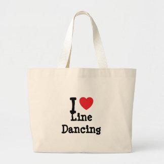 I love Line Dancing heart custom personalized Jumbo Tote Bag