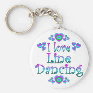 I Love Line Dancing Key Ring