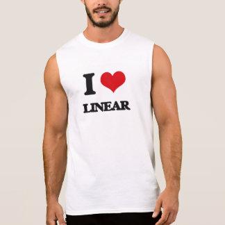 I Love Linear Sleeveless T-shirts