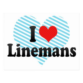 I Love Linemans Postcard