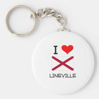 I Love LINEVILLE Alabama Basic Round Button Key Ring