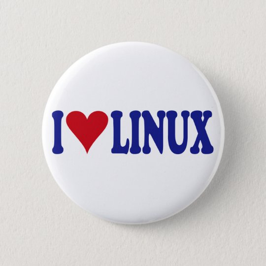 I Love Linux 6 Cm Round Badge