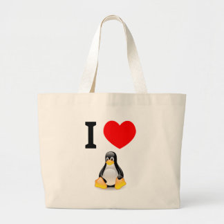 I love Linux Canvas Bag