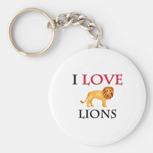 I Love Lions Keychains