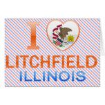 I Love Litchfield, IL Greeting Cards
