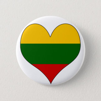 I Love Lithuania 6 Cm Round Badge