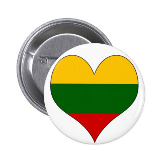 I Love Lithuania 6 Cm Round Badge