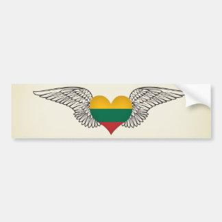 I Love Lithuania -wings Bumper Sticker