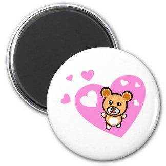 I love little bear 6 cm round magnet