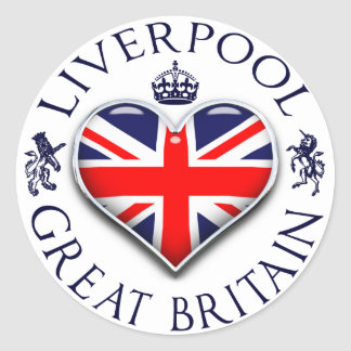 I Love Liverpool Classic Round Sticker