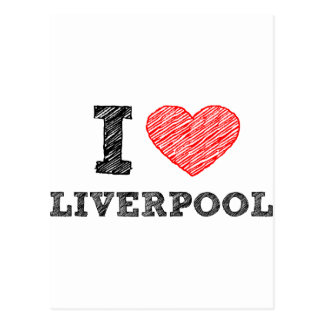 I love Liverpool Postcard