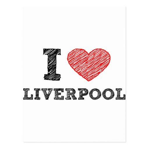 I love Liverpool Post Cards