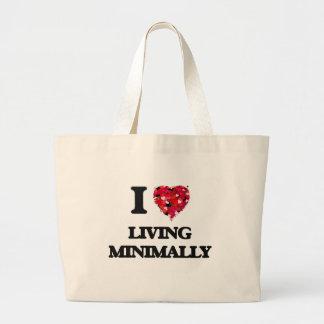I Love Living Minimally Jumbo Tote Bag
