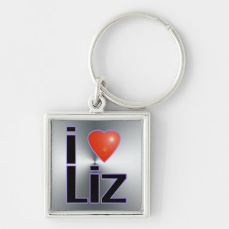 i love Liz Key Ring