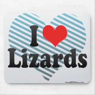 I Love Lizards Mouse Mat