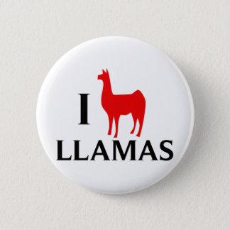 I Love Llamas 6 Cm Round Badge