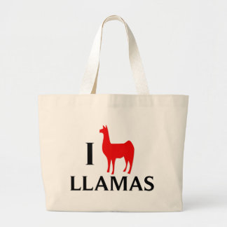 I Love Llamas Canvas Bags