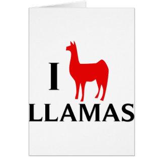 I Love Llamas Card