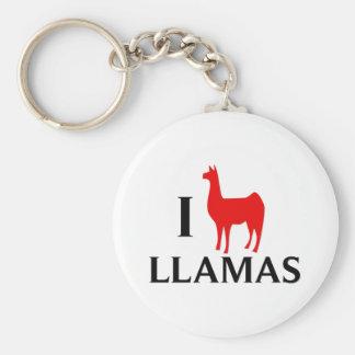 I Love Llamas Key Ring