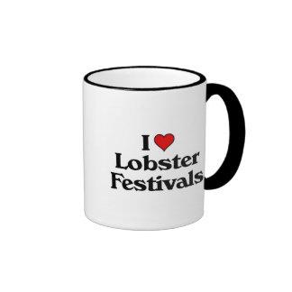 I love Lobster Festivals Ringer Mug