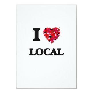 I Love Local 13 Cm X 18 Cm Invitation Card