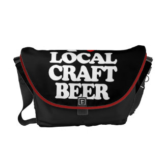 I LOVE LOCAL CRAFT BEER COURIER BAG