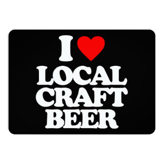 I LOVE LOCAL CRAFT BEER CARDS