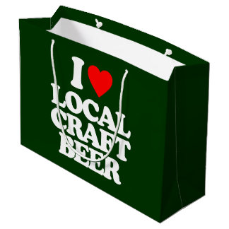 I LOVE LOCAL CRAFT BEER LARGE GIFT BAG