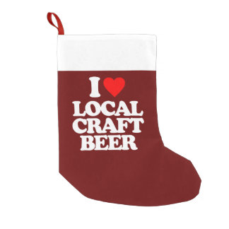 I LOVE LOCAL CRAFT BEER SMALL CHRISTMAS STOCKING