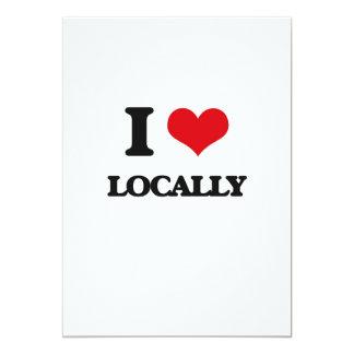 "I Love Locally 5"" X 7"" Invitation Card"