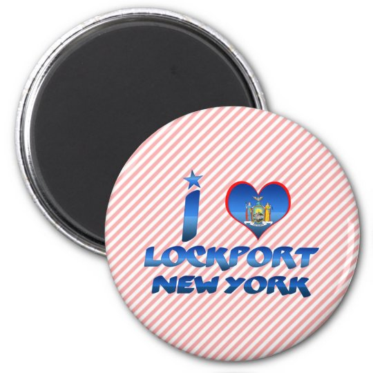 I love Lockport, New York 6 Cm Round Magnet