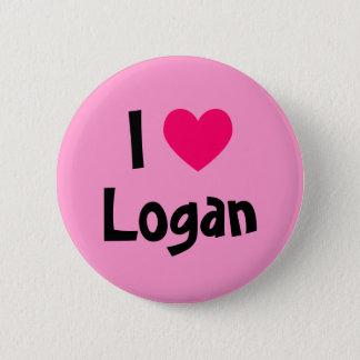 I Love Logan 6 Cm Round Badge