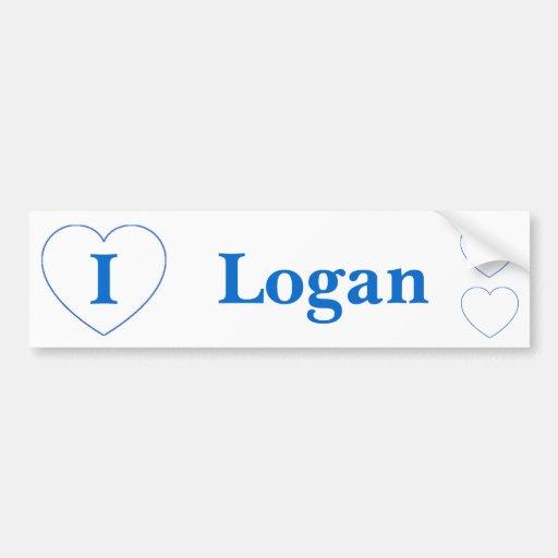 I Love Logan (BpS) Bumper Stickers