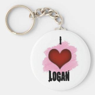 I Love Logan Keychain