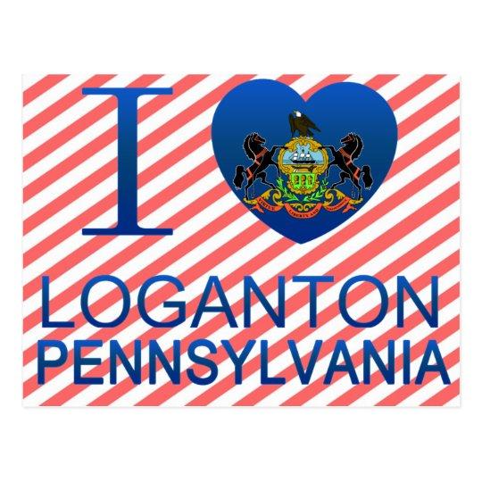 I Love Loganton, PA Postcard