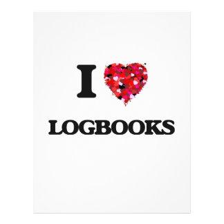 I Love Logbooks 21.5 Cm X 28 Cm Flyer
