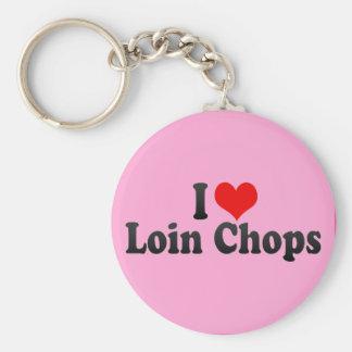 I Love Loin Chops Keychain