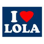 I Love Lola Postcard